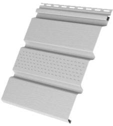 Пластиковый софит Grand Line КЛАССИКА c центральной перфорацией белый