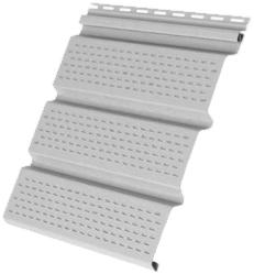 Пластиковый софит Grand Line КЛАССИКА с полной перфорацией белый
