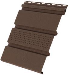 Пластиковый софит Grand Line КЛАССИКА c центральной перфорацией коричневый