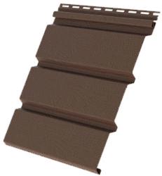 Пластиковый софит Grand Line КЛАССИКА гладкий коричневый