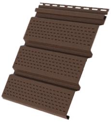 Пластиковый софит Grand Line КЛАССИКА с полной перфорацией коричневый