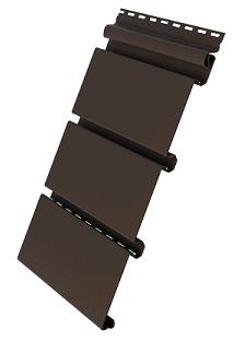 Пластиковый софит Grand Line Premium Estetic со скрытой перфорацией коричневый
