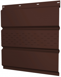 Софиты металлические Grand Line с центральной перфорацией покрытие Полиэстер RAL 8017