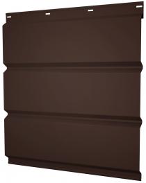 Софиты металлические Grand Line сплошные перфорацией покрытие Полиэстер коричневые RAL 8017