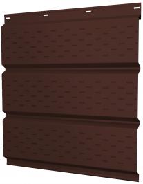 Софиты металлические Grand Line с полной перфорацией перфорацией покрытие Полиэстер коричневые RAL 8017