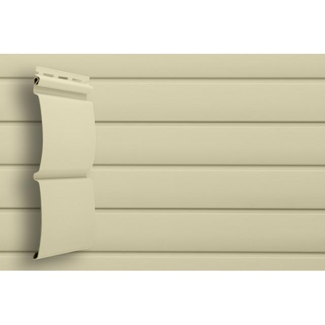 Сайдинг виниловый Grand Line Блок-хаус D4,8 GL Amerika Слоновая кость