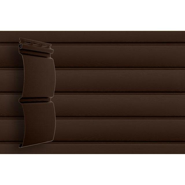 Сайдинг виниловый Grand Line Блок-хаус D4,8 GL Amerika Темный дуб
