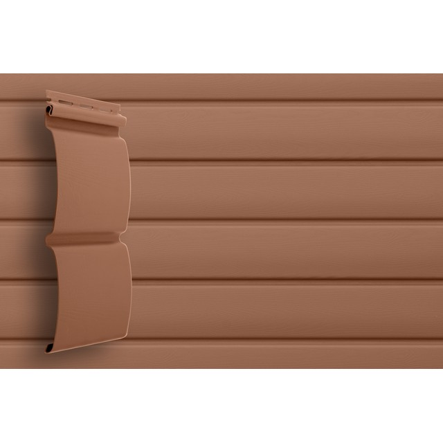 Сайдинг виниловый Grand Line Блок-хаус D4,8 GL Amerika Темно-бежевый