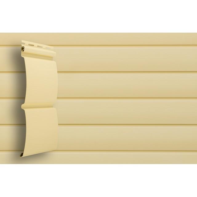 Сайдинг виниловый Grand Line Блок-хаус D4,8 GL Amerika Ванильный